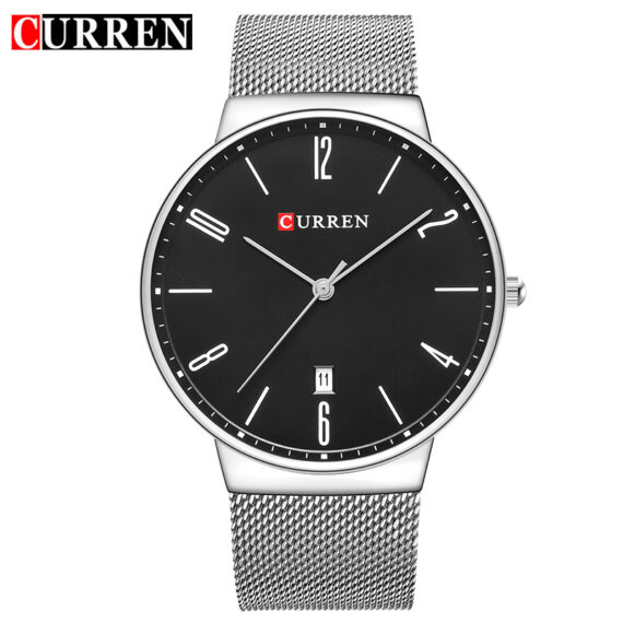curren 8257 silver black 1