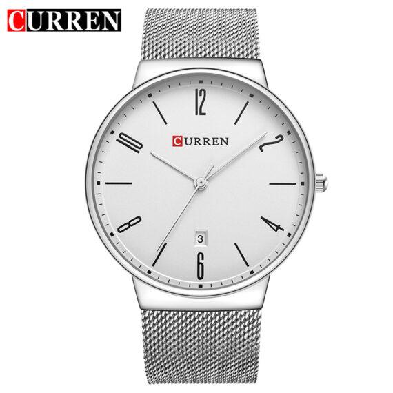 curren 8257 silver white 1