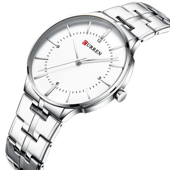 curren 8321 silver white 2