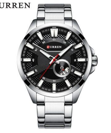 curren 8372 silver black 1