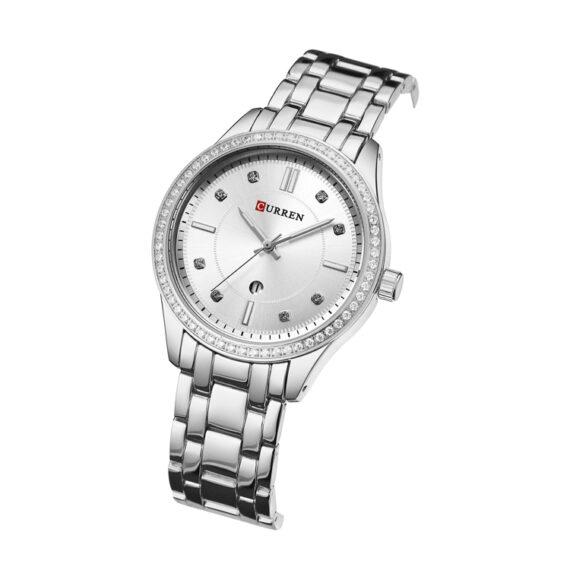 curren 9010 silver white 2