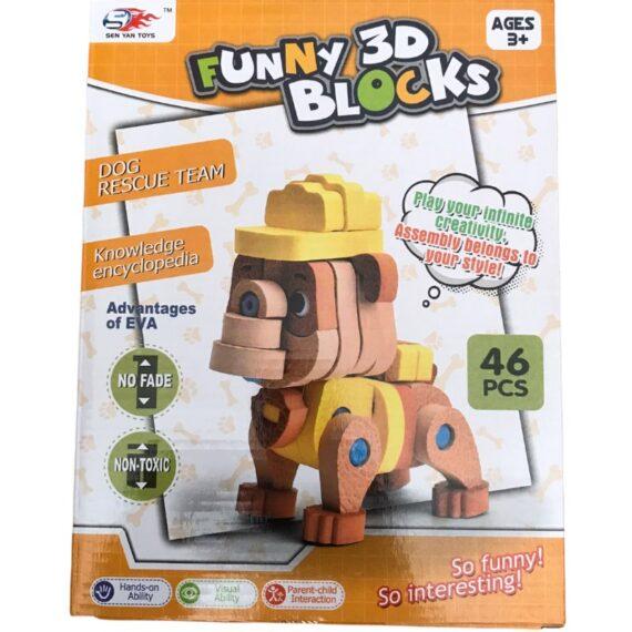 funny 3d blocks 46pcs