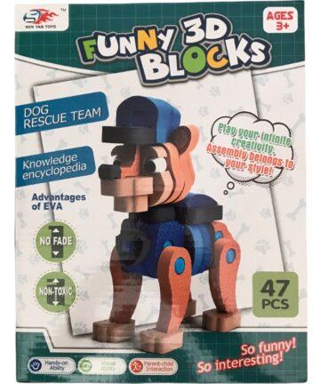 funny 3d blocks 47pcs