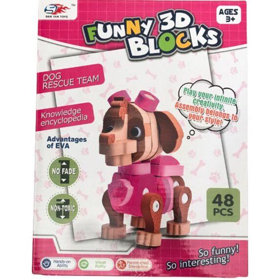 funny 3d blocks 48pcs