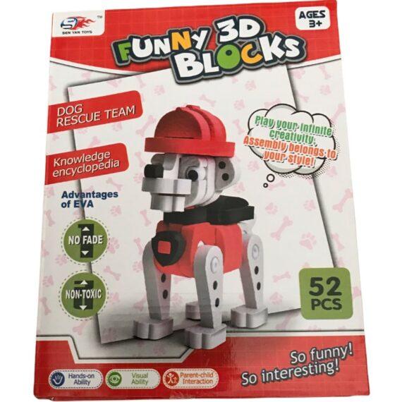 funny 3d blocks 52pcs